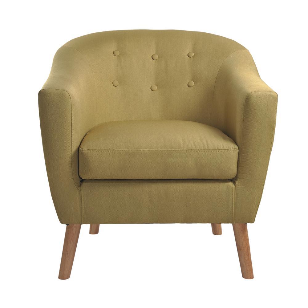 Jason Green Fabric Tub Chair