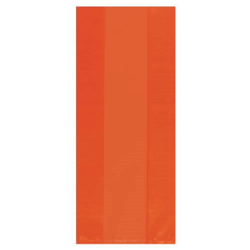 AMSCAN 9.5 in. x 4 in. Orange Peel Cellophane Party Bags ...
