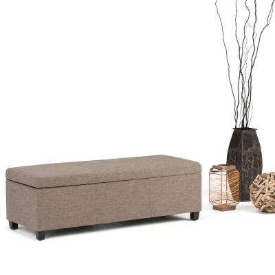 Avalon Fawn Brown Storage Bench
