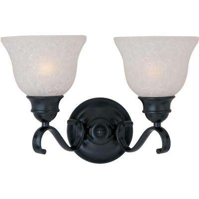 Linda 2-Light Black Bath Vanity Light