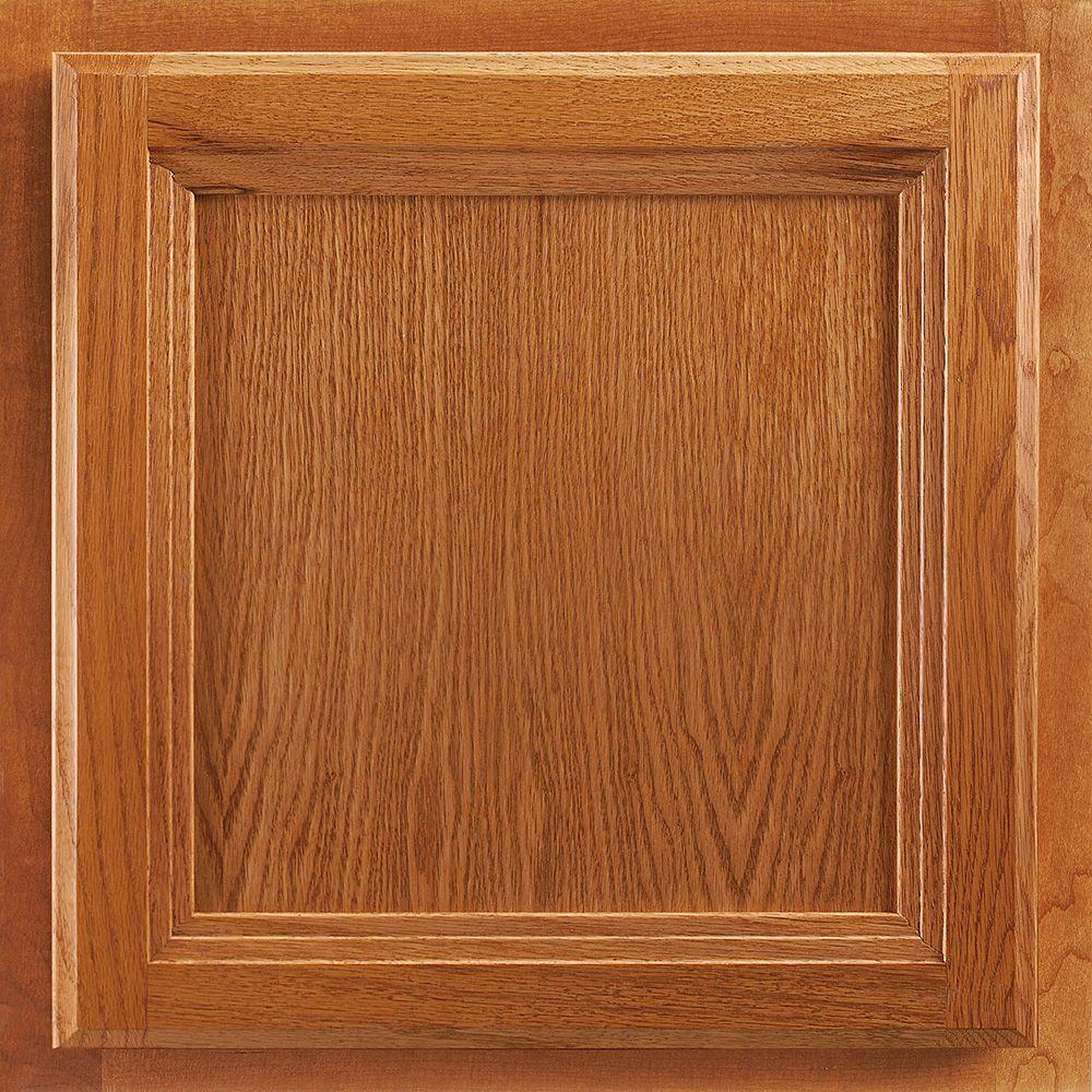 Cabinet Doors Home Depot >> American Woodmark 13x12 7 8 In Cabinet Door Sample In Ashland Oak Honey