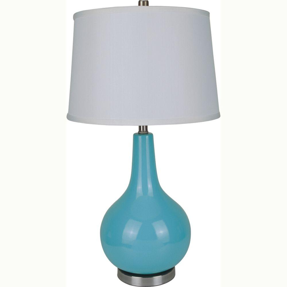 glass target lamp agreeable bedside notonthehighstreet decoration delectable handmade table hunkydory by shades chandelier com aqua shade lighting small lamps home turquoise simply