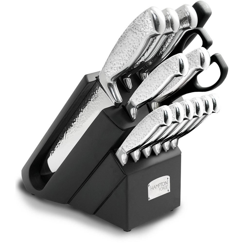 Argentum Hammered 14-Piece Cutlery Block Set