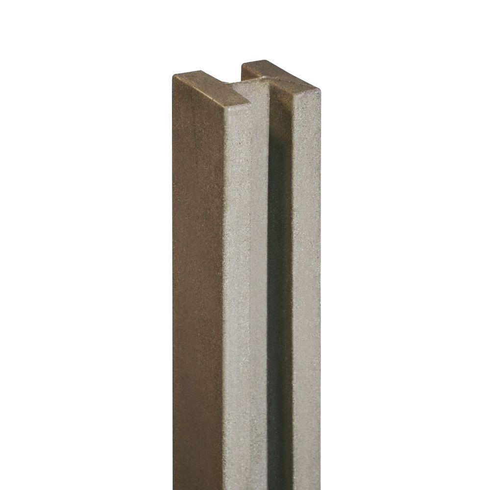 SimTek 5 in. x 5 in. x 8-1/2 ft. Brown Composite Fence Line Post