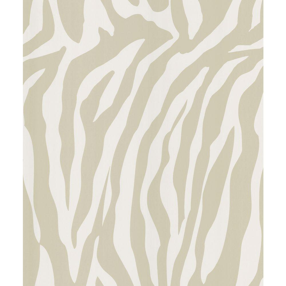 National Geographic Congo Taupe Zebra Skin Wallpaper Sample
