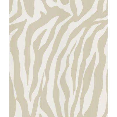 Congo Taupe Zebra Skin Wallpaper Sample