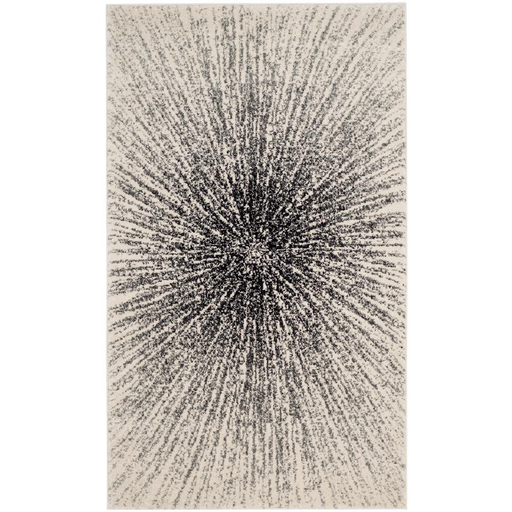 Evoke Black/Ivory 3 ft. x 5 ft. Area Rug