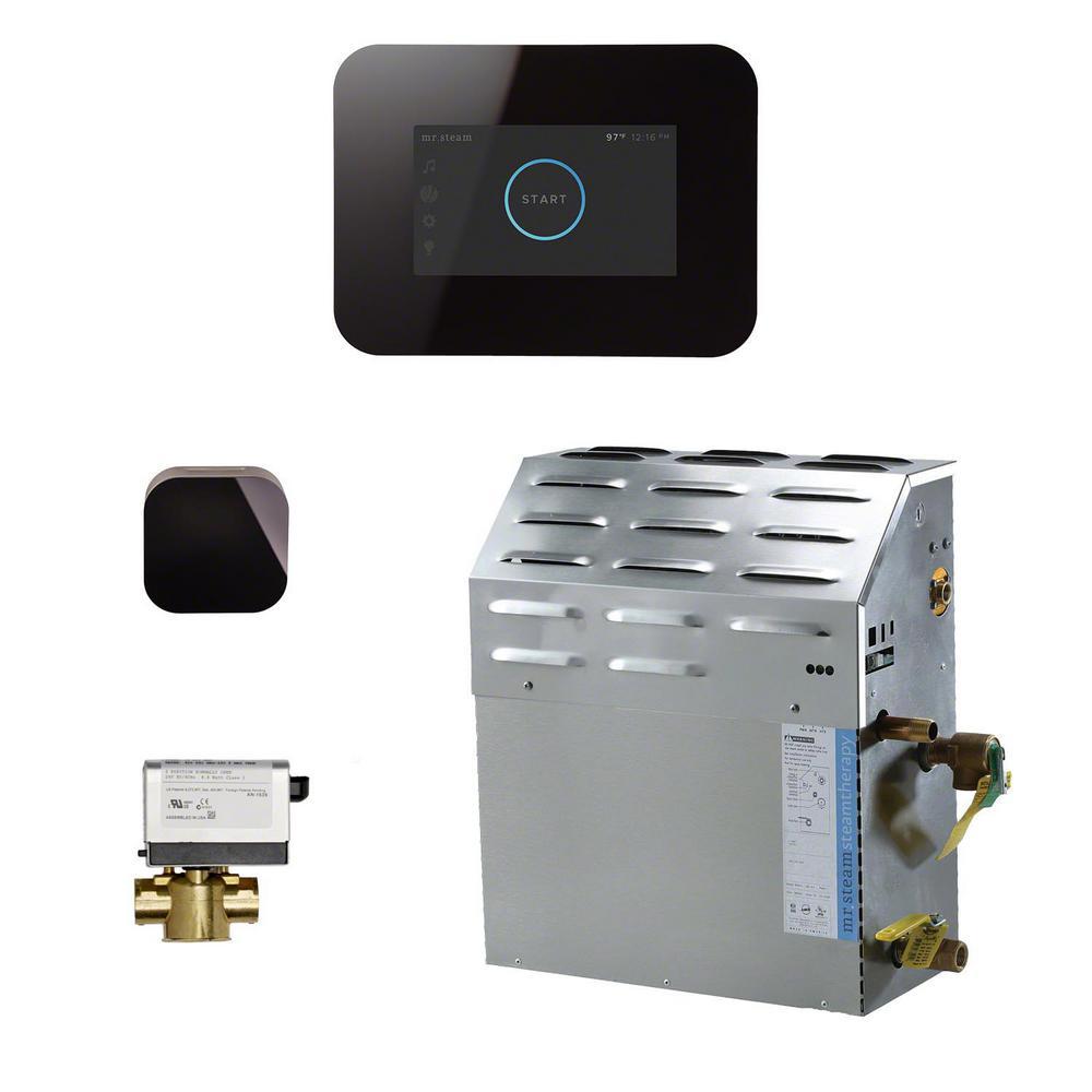 15kW Steam Bath Generator with iSteam3 AutoFlush Package in Black