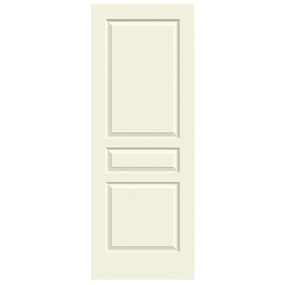 30 In. X 80 In. Avalon Vanilla Painted Textured Hollow Core