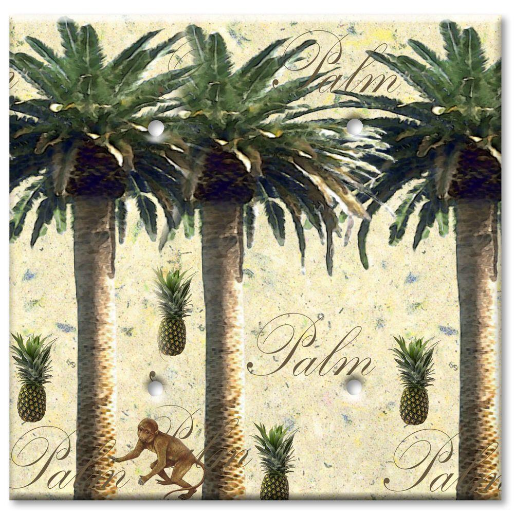 Art Plates Palm Tree 2 Blank Wall Plate