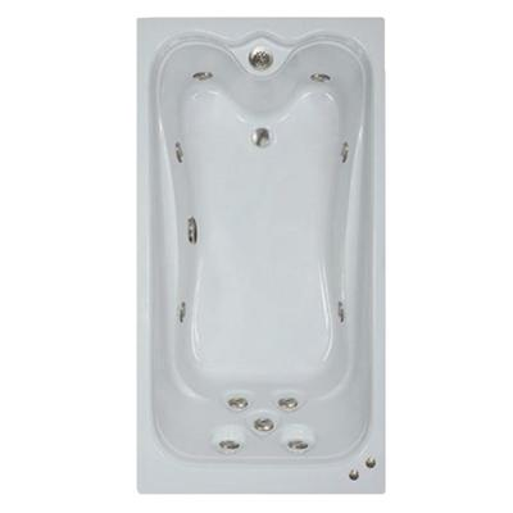 60 in. Acrylic Rectangular Drop-in Whirlpool Bathtub in Black