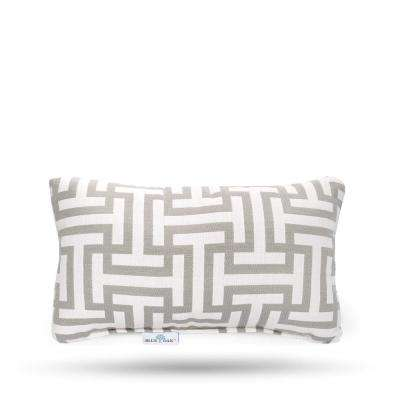 Outdura Wyndham Silver Rectangular Lumbar Outdoor Throw Pillow (2-Pack)