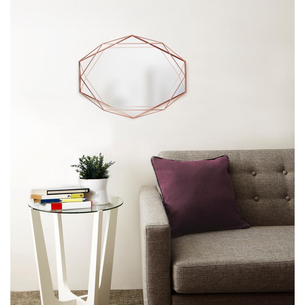 Copper Prisma Wall Mirror