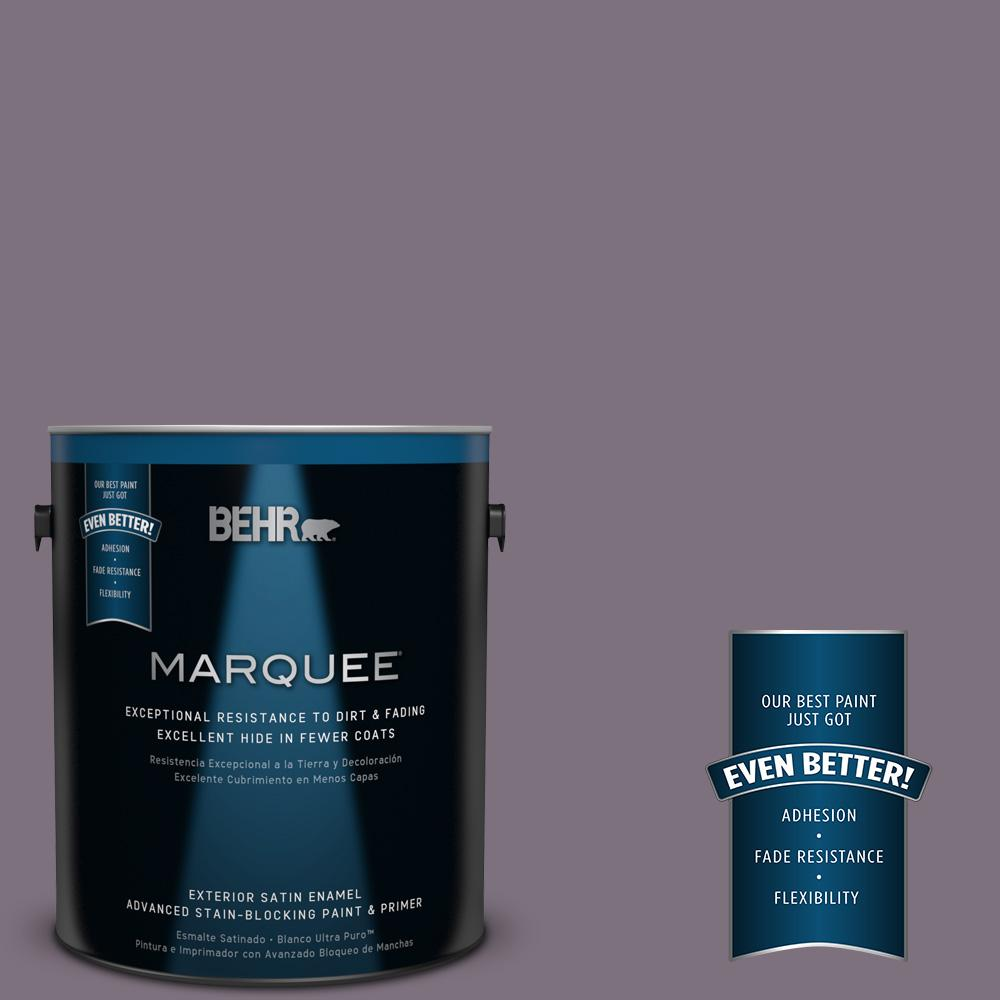 BEHR MARQUEE 1-gal. #PPU17-17 Plum Shadow Satin Enamel Exterior Paint
