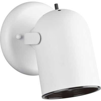 1-Light White Spotlight Fixture