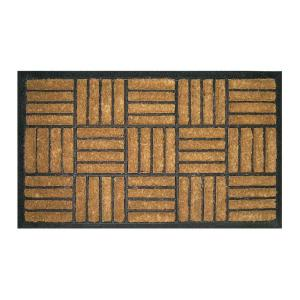 Entryways Criss Cross 18 inch x 30 inch Recycled Rubber and Coir Door Mat by Entryways