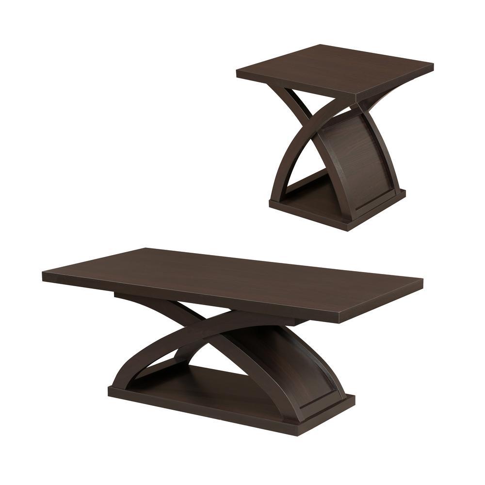 Barkley Console Table: Furniture Of America Luxor Espresso 2-Piece Table Set-IDF