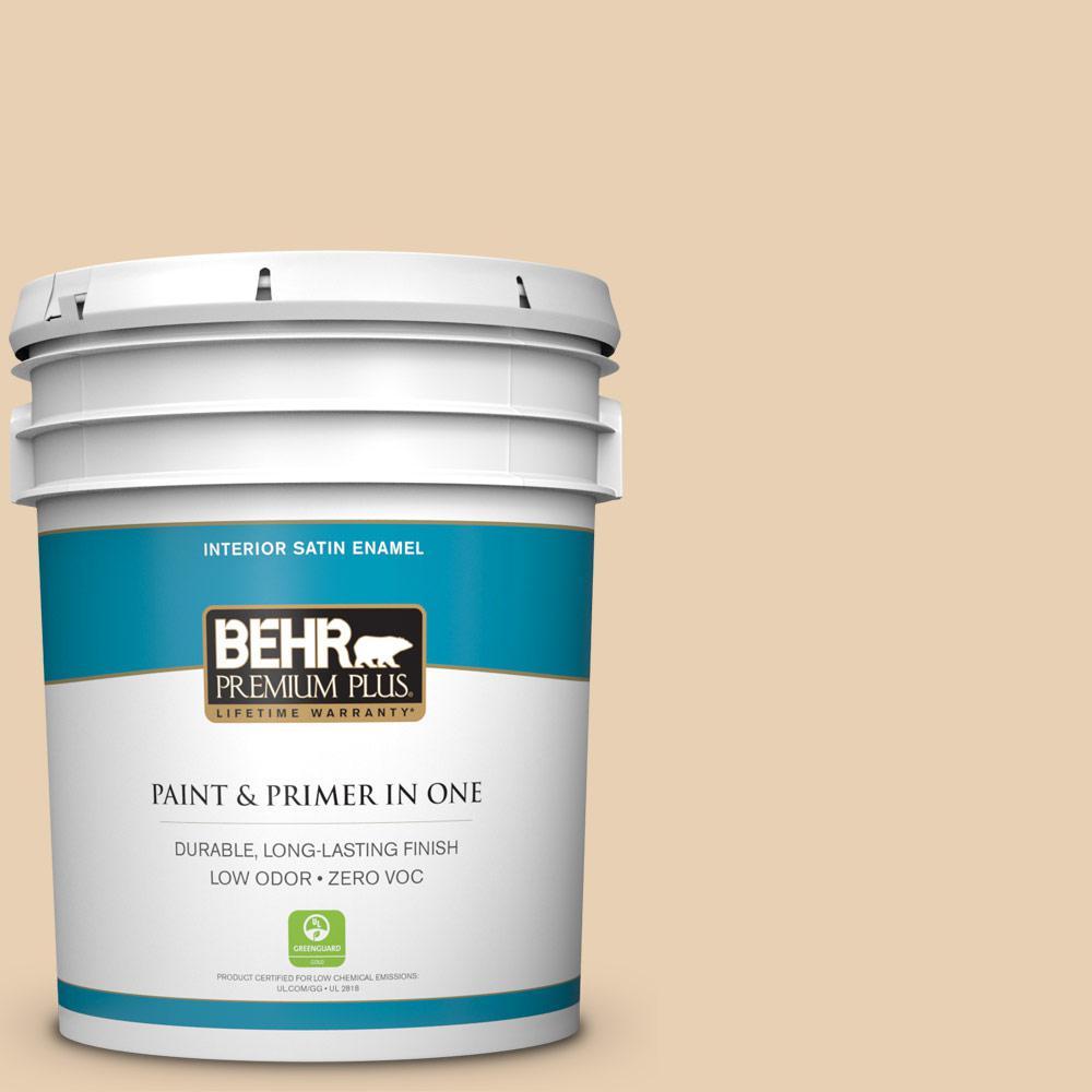 5-gal. #S290-2 White Bean Hummus Satin Enamel Interior Paint