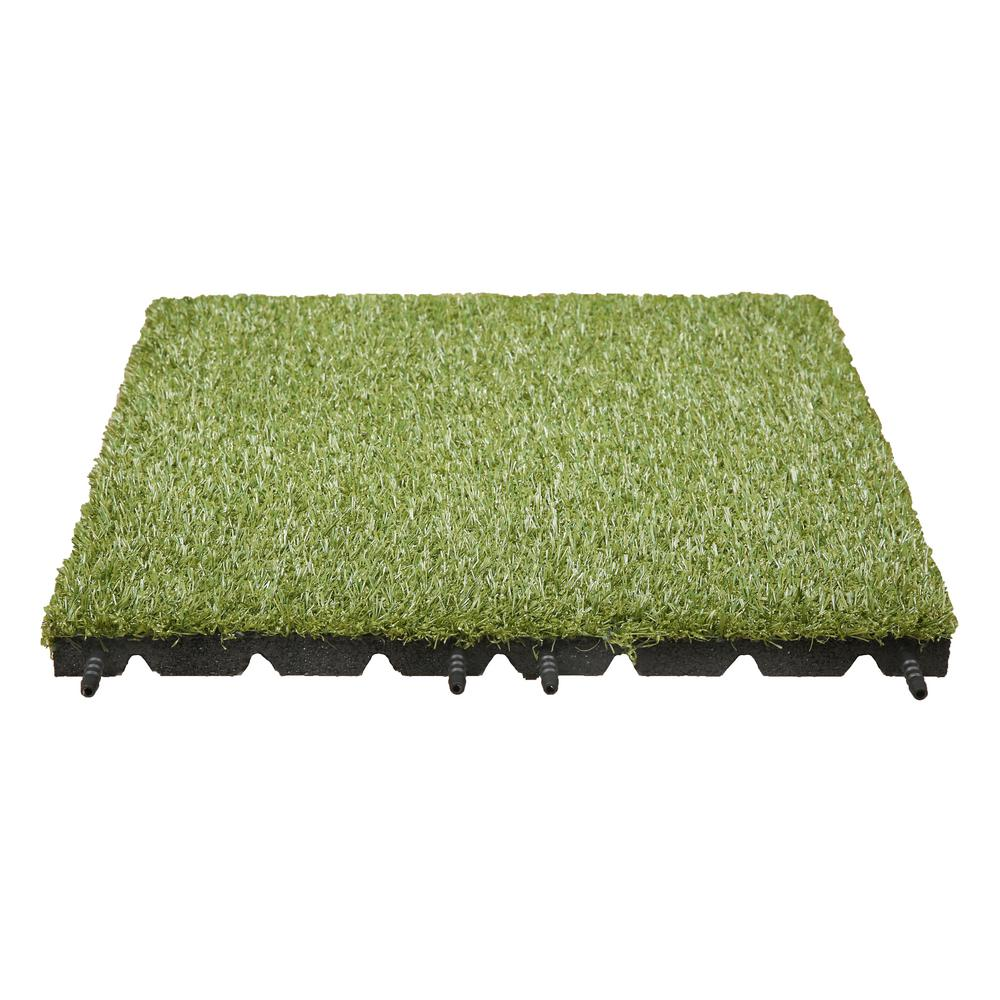 Technoflex Artificial Grass Tile 19 in. x 19 in. (8-Pack)