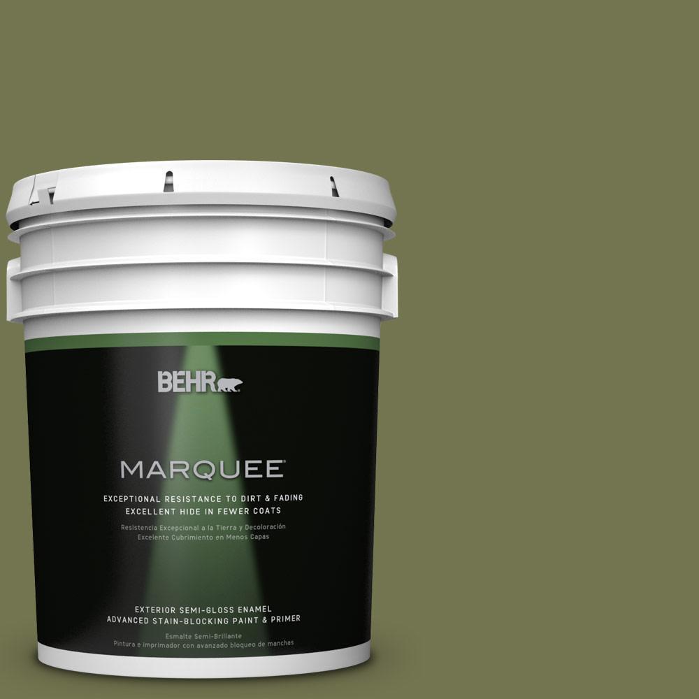 5-gal. #S360-6 Secret Meadow Semi-Gloss Enamel Exterior Paint