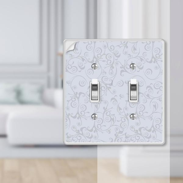 Amerelle Paper It 2 Gang Toggle Composite Wall Plate Uses Your Wallpaper 99tt The Home Depot