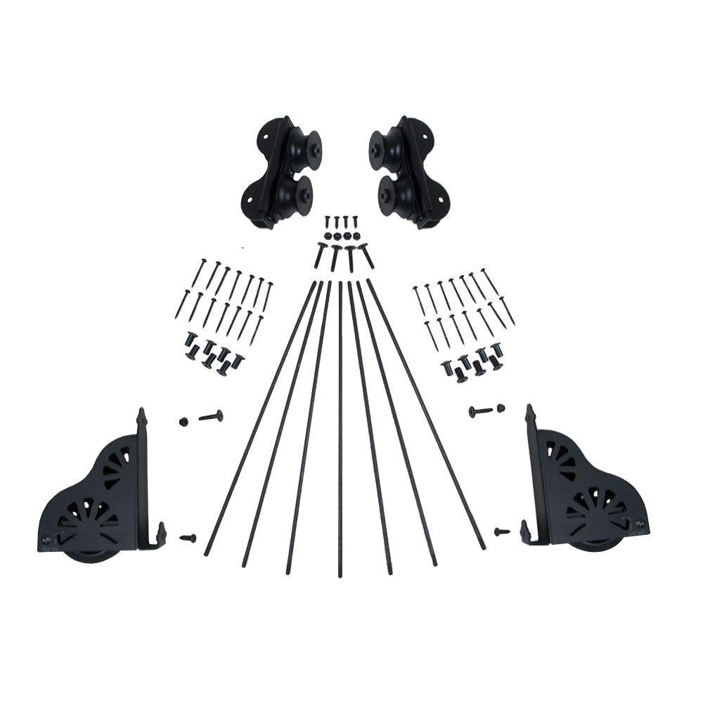 Black Braking Rolling Ladder Hardware Kit