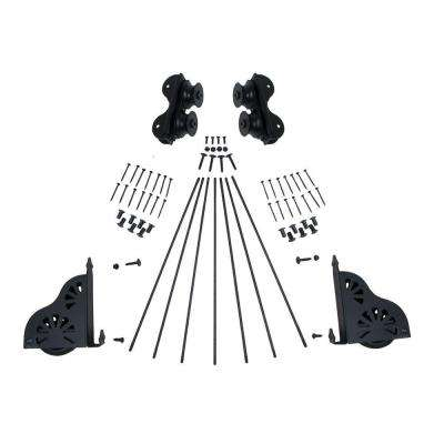 Black Braking Rolling Ladder Hardware Kit