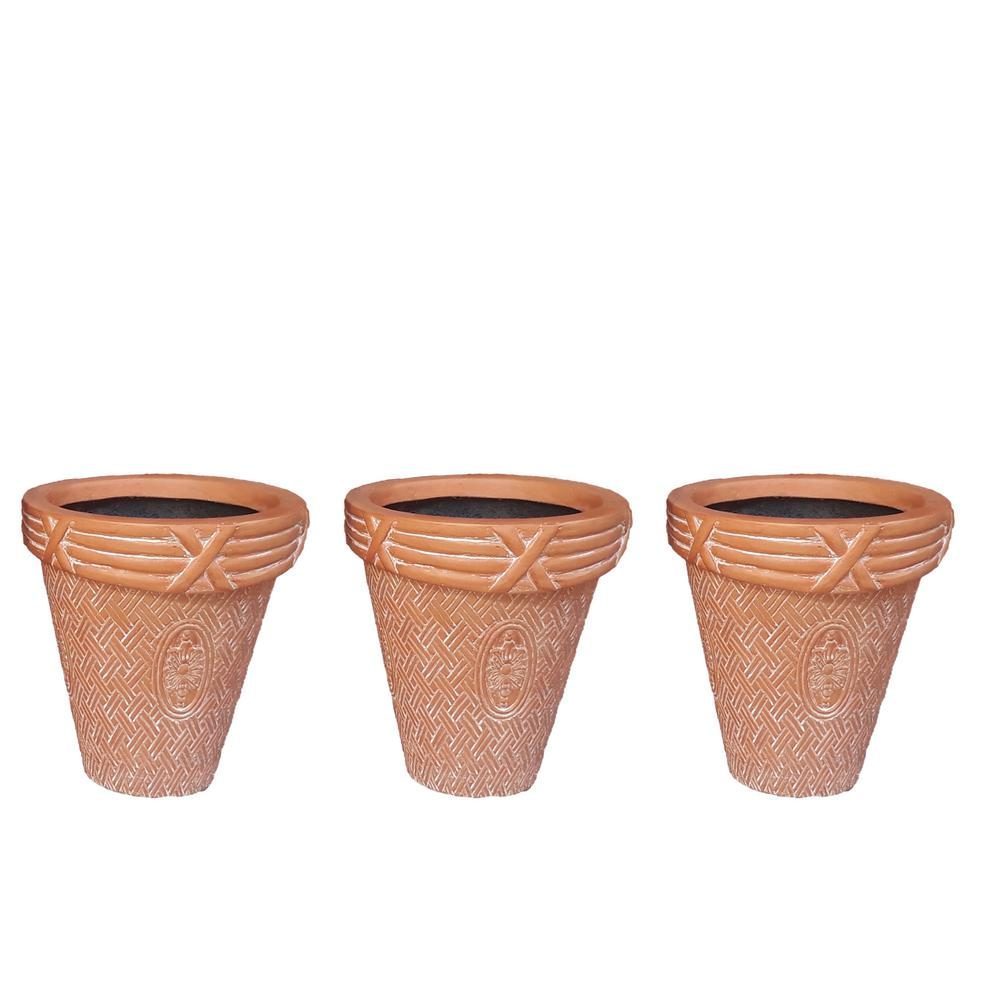 Mpg Small Composite Fence Planters With Lattice Rim For Shadow Box