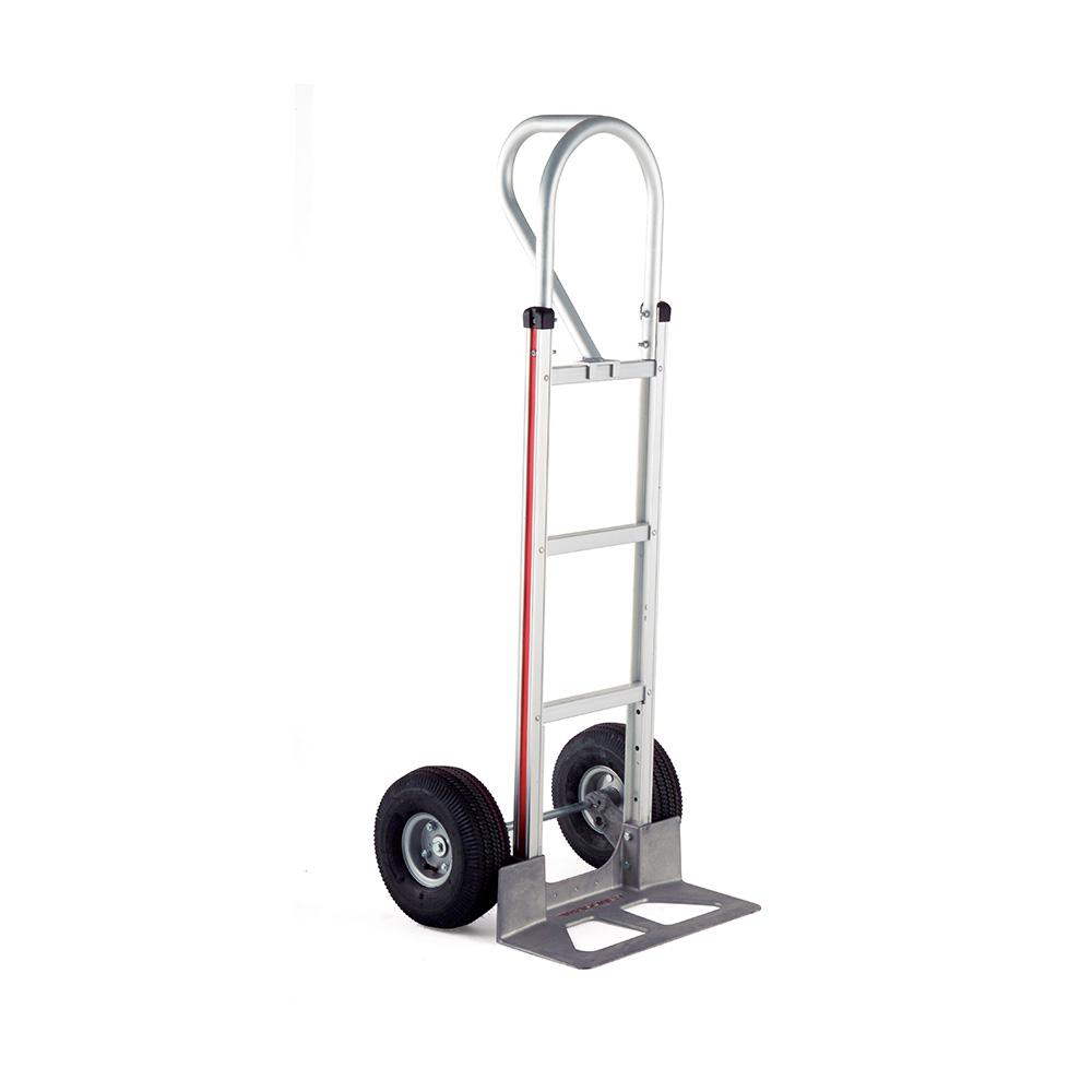 500 lbs. Capacity Aluminum Hand Truck with Vertical Loop Handle, Die-Cast