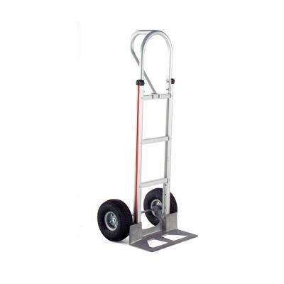 500 lbs. Capacity Aluminum Hand Truck with Vertical Loop Handle, Die-Cast Nose Plate and Pneumatic Wheels