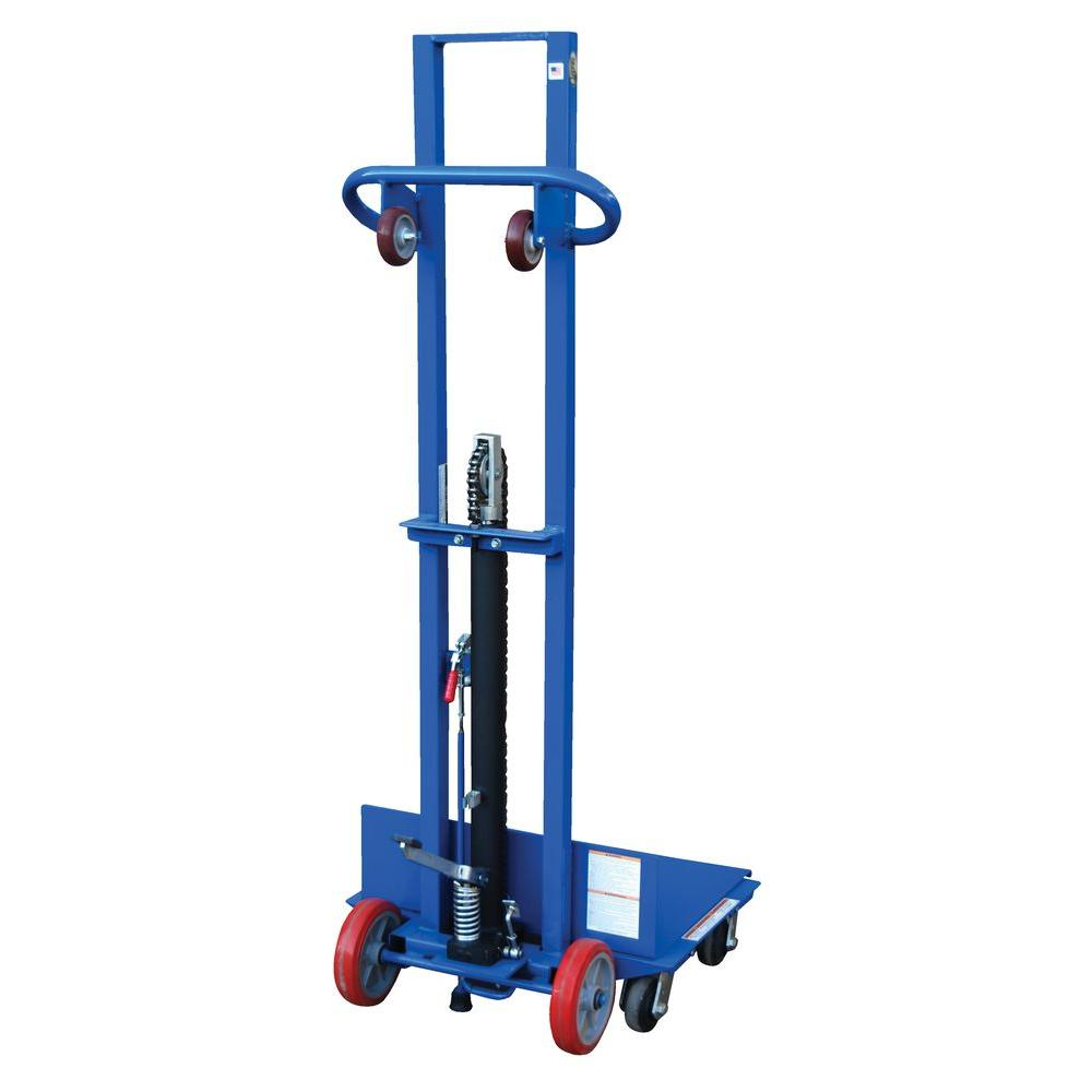 500 lb. Steel Foot Pump Lite Load Lift with Swivel Caster