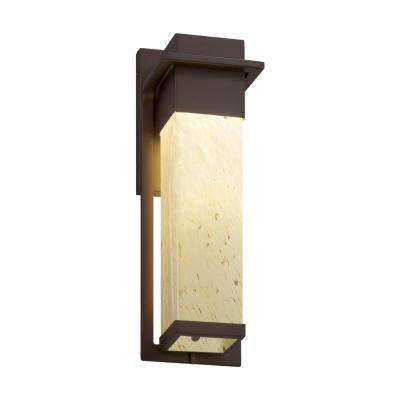 Fusion Pacific Large Dark Bronze LED Outdoor Wall Sconce with Droplet Shade