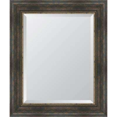 30.5 in. x 36.5 in. Framed Black Bronze Slope Mirror
