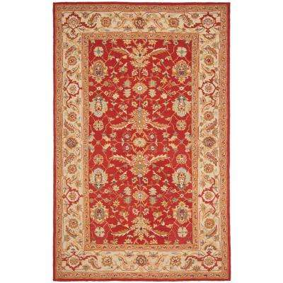 Chelsea Red/Ivory 7 ft. 9 in. x 9 ft. 9 in. Area Rug