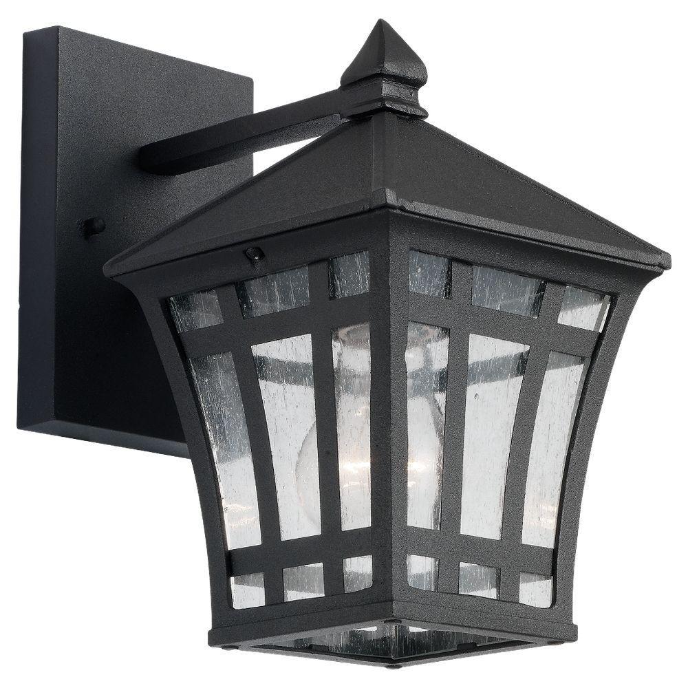 Herrington 1-Light Black Outdoor Wall Fixture