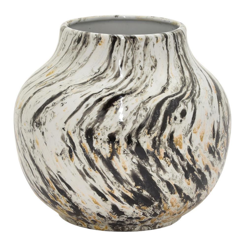 8.5 in. Black Ceramic Vase