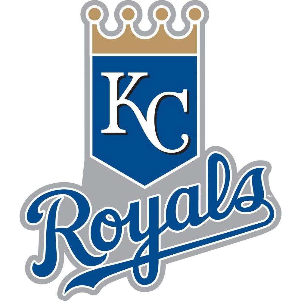 Fathead 37 in. x 50 in. Kansas City Royals Logo Wall Decal