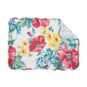 C & F Home Red Camila Quilted Placemat (Set of 6) by C & F Home