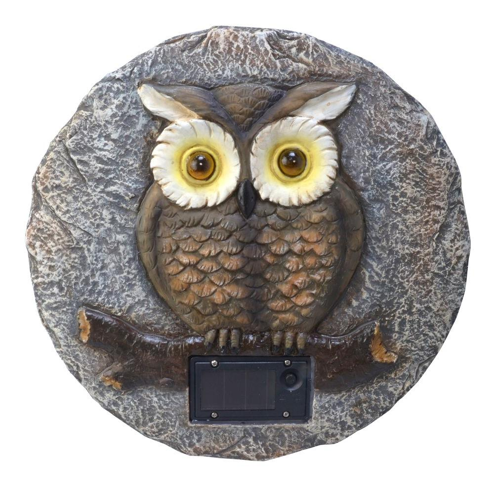 Moonrays Solar Powered Integrated LED Multi-Colored Owl G...
