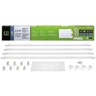 T8 White 4000K LED Retrofit Kit (Tubes with Sockets and Metal Kit)