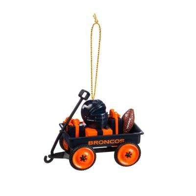 Denver Broncos 1-3/4 in. NFL Team Wagon Christmas Ornament