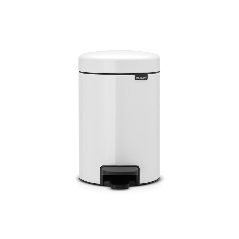 Brabantia 0.8 Gal. White Steel Step-On Trash Can