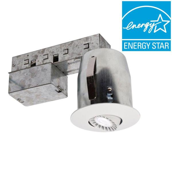 300 Series 3 in. Matte White Recessed LED Fixture Kit