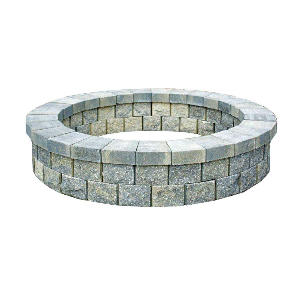 Titan Block 81 in Round Fire Pit Kit in Quarry Ridge102808 The