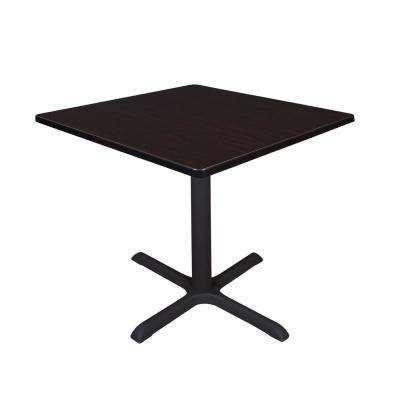 Cain Mocha Walnut Square 42 in. Breakroom Table