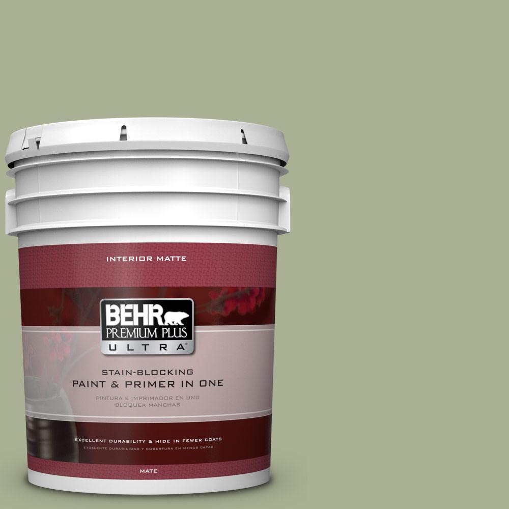 BEHR Premium Plus Ultra 5 gal. #PPU10-6 Spring Walk Flat/Matte Interior Paint
