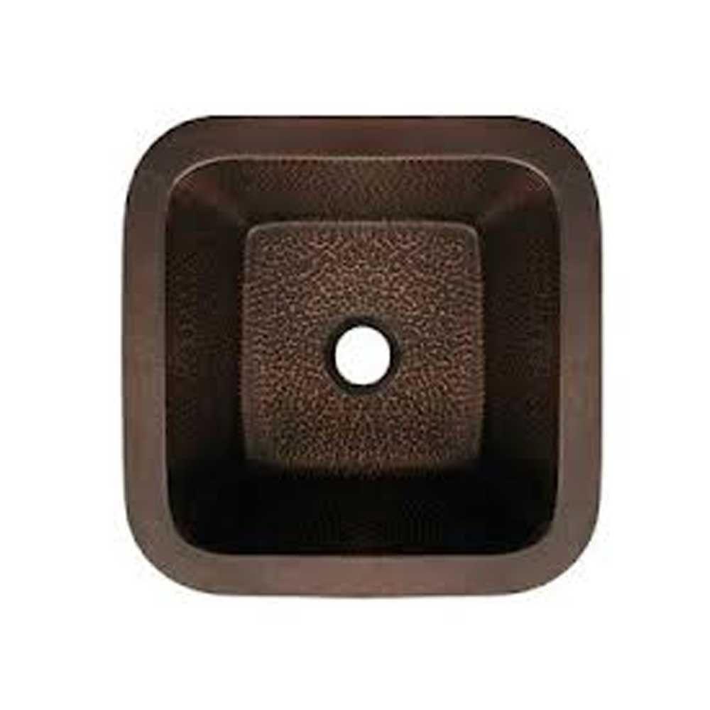 Whitehaus Collection Undermount Copper 15 in. Single Bowl Kitchen Sink in Hammered Bronze