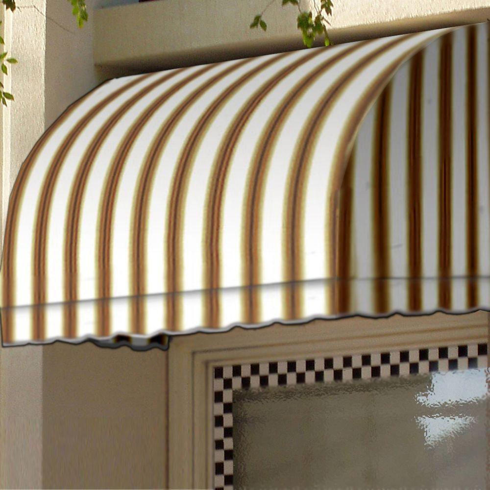 50 ft. Savannah Window/Entry Awning (44 in. H x 36 in. D) in White/Linen/Terra cotta Stripe