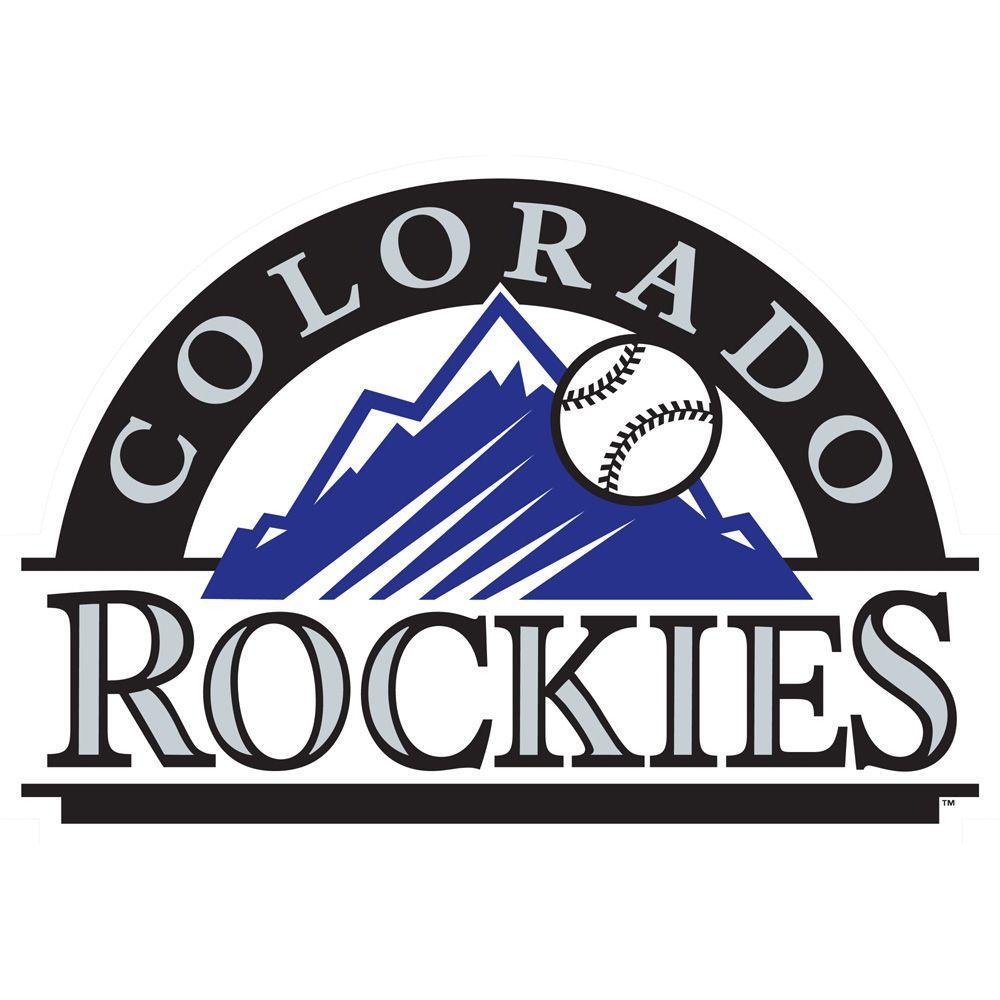 Fathead 50 in. x 37 in. Colorado Rockies Logo Wall Decal