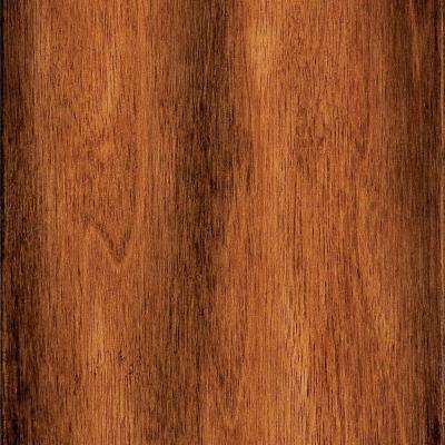 Hand Scraped Manchurian Walnut 1/2 in. T x 4-7/8 in. W x Varying Length Engineered Exotic Hardwood Flr (22.79 sq.ft./cs)